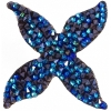 Swarovski Crystal Rock Quatro 44.5mm Bermuda Blue Crystal